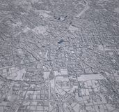 Map Milan center 3d buildings Stock Photos