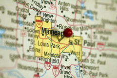 Map of Minneapolis. Metro area royalty free stock images