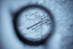 Map of Minneapolis Royalty Free Stock Image