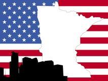 Map of Minnesota Stock Photos