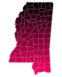 Map of Mississippi Stock Image