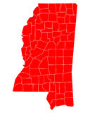 Map of Mississippi Stock Images