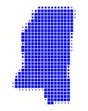 Map of Mississippi. On white Stock Photos