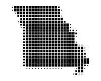 Map of Missouri Stock Image