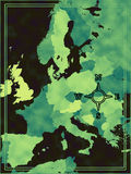 Map of modern Europe Royalty Free Stock Image