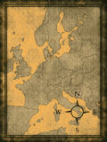 Map of modern Europe Royalty Free Stock Image
