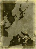 Map of modern Europe Stock Image
