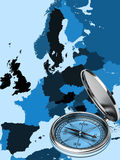 Map of modern Europe Stock Images