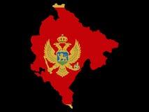 Map of Montenegro Stock Photography