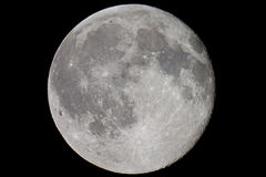 Map of the Moon. Close up of the moon with landmarks labeled Royalty Free Stock Image