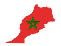 Map Of Morocco stock illustration