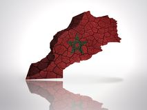 Map of Morocco Royalty Free Stock Photos
