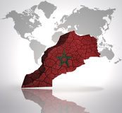 Map of Morocco Royalty Free Stock Image