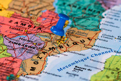 Map of Mozambique Royalty Free Stock Images