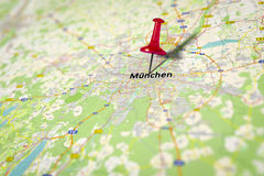 Map Munich. An image of a map shows Munich in Germany - source from openstreetmap.de Royalty Free Stock Images