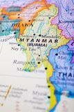 Map of Myanmar o Burma. Map of Myanmar or Burma. Naypyidaw, officially spelled Nay Pyi Taw is the capital city of Myanmar and seat of the government of Myanmar stock photos