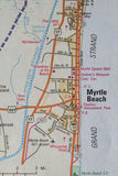 Map of Myrtle Beach, SC Royalty Free Stock Photos