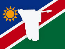 Map of Namibia. Stock Images