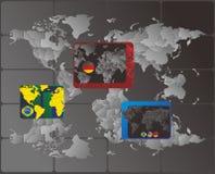 Map national flag tag Royalty Free Stock Image