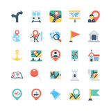 Map and Navigation Colored Vector Icons 1 Stock Photos