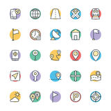 Map and Navigation Cool Vector Icons 1 Royalty Free Stock Photo
