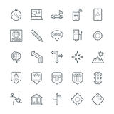 Map and Navigation Cool Vector Icons 2 Stock Photography