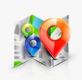 Map navigation icon Royalty Free Stock Photography