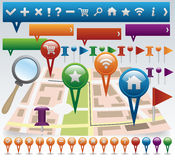 Map and Navigation icon set Stock Image