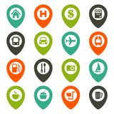 Map navigation icon set Stock Photo