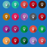 Map navigation icons Royalty Free Stock Images