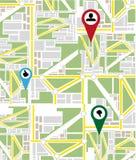 Map navigation Royalty Free Stock Photography