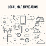 Map Navigation Infographic elements. Royalty Free Stock Images