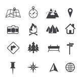 Map, Navigation and Location Icons set Stock Image