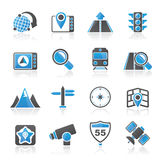 Map, navigation and Location Icons Stock Image