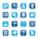 Map, navigation and Location Icons Stock Photos