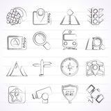Map, navigation and Location Icons Stock Photo