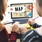Map Navigation Position Transport GPS Route Concept Stock Photos