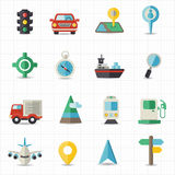 Map navigation and transportation. This image is a vector illustration Stock Photos