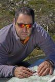 Map navigation, trekking Royalty Free Stock Image