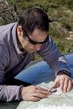Map navigation, trekking Royalty Free Stock Images