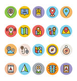 Map and Navigation Vector Icons 2 Royalty Free Stock Photos