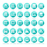 Map navigation vector iconset in flat style.  Royalty Free Stock Images