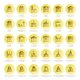 Map navigation vector iconset in flat style.  Stock Photography