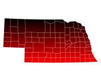 Map of Nebraska Stock Photos