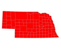 Map of Nebraska Stock Images