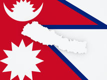 Map of Nepal. Royalty Free Stock Photo