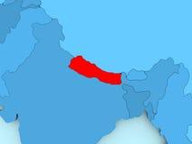 Map of Nepal Stock Photos