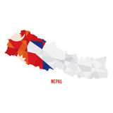 Map of Nepal Stock Photography