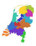 Map of the Netherlands Stock Photography