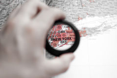 Map of New York Stock Photography
